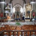 Feldebrői román kori templom belseje