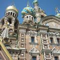 Szentpétervár, templom díszes épűlete és tornyai
