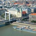 Budapest,Erzsébet híd,és pesti város részlet,Fotó:Szolnoki Tibor