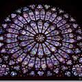 Franciaország, Párizs - Notre Dame rózsaablaka