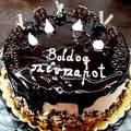 Dobos torta csoki öntettel Katalinra