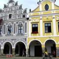 Csehország Telc ,Főtér lábasházai