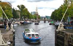 Amsterdam, Canal Oude Schans, view from Anthonie-locks