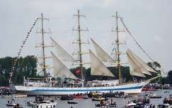 Netherlands-Spaarndam, SAIL 2015. TALL SHIP MIR (Peace)