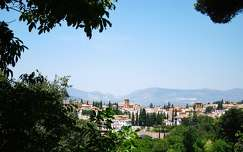 GRANADA-SPAIN, VIEW FROM LA ALHAMBRA