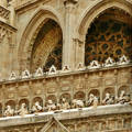 Toledo Spain, Part of the facade from the Cathedral
